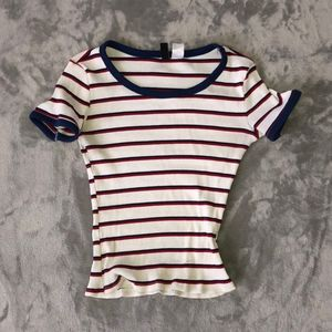 Tight Ribbed Striped T-shirt
